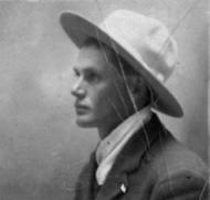 Samuel Lafayett Rawlins (with hat - side view)